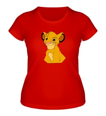 Женская футболка Хитрый Симба