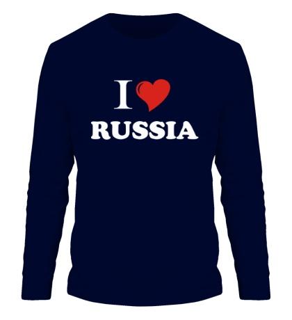 Мужской лонгслив I love RUSSIA