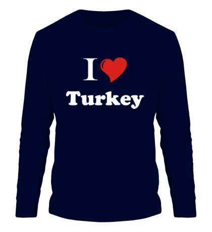 Мужской лонгслив I love turkey