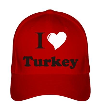 Бейсболка I love turkey