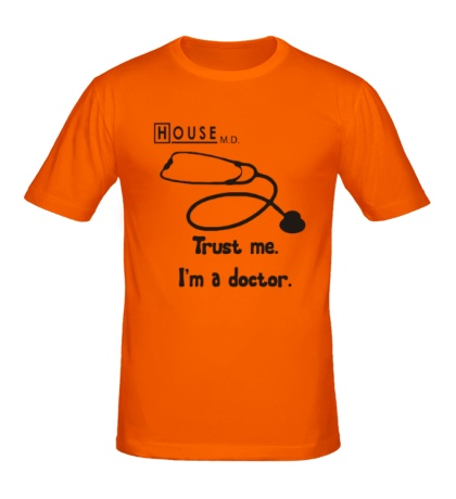 Мужская футболка «House MD: Trust me»