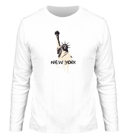 Мужской лонгслив New York: Statue of Liberty