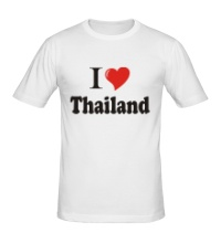 Мужская футболка I love thailand