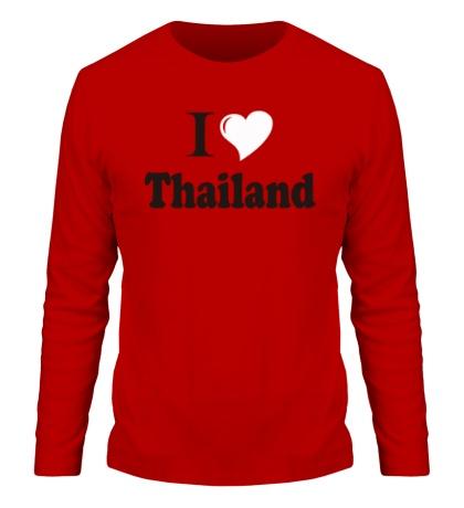 Мужской лонгслив I love thailand