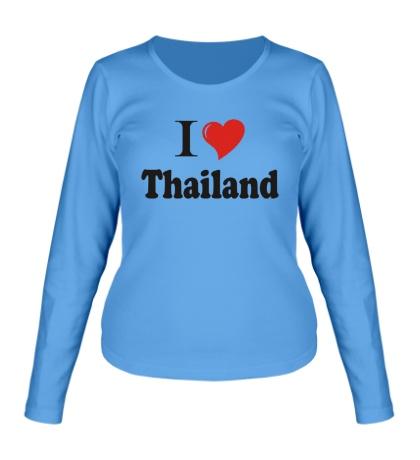Женский лонгслив I love thailand