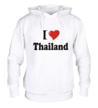 Толстовка с капюшоном I love thailand