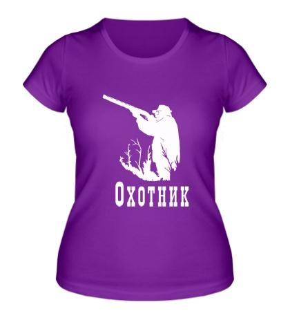 Женская футболка Охотник на охоте