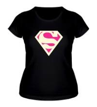 Женская футболка Acid Superman