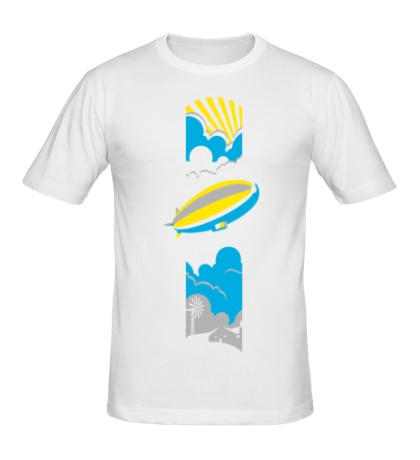 Мужская футболка Дирижабль
