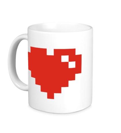 Керамическая кружка Сердце