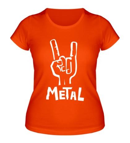 Женская футболка Metal Forever