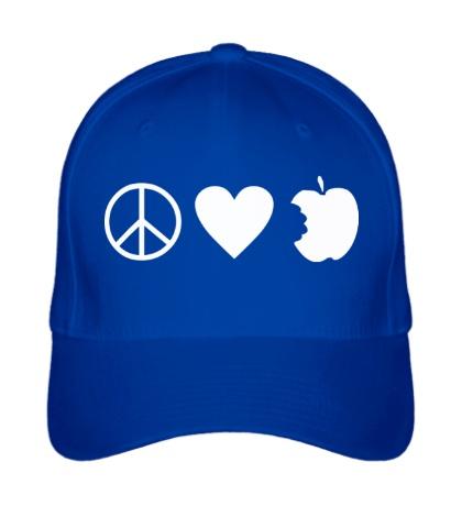 Бейсболка Peace Love Apple