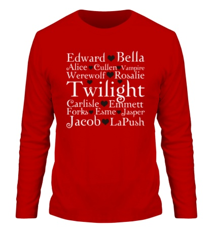 Мужской лонгслив Twilight Love