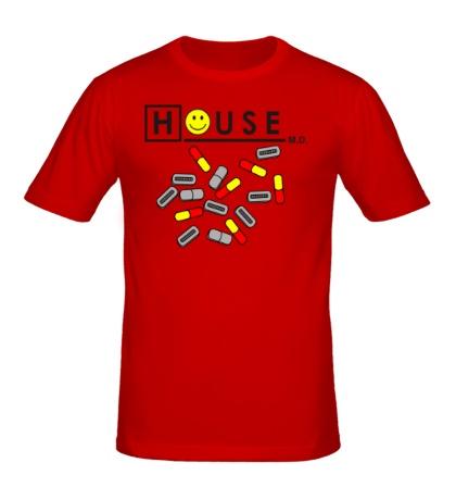 Мужская футболка «House MD: Smile Pills»