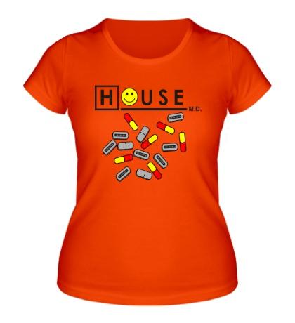 Женская футболка House MD: Smile Pills