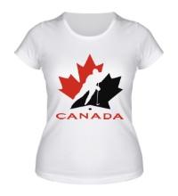 Женская футболка Canada Hockey