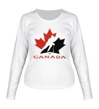 Женский лонгслив Canada Hockey