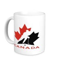 Керамическая кружка Canada Hockey