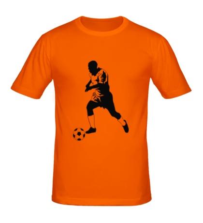 Мужская футболка Футболист с мячом