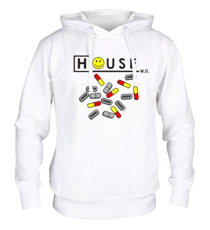 Толстовка с капюшоном «House MD: Smile Pills»