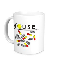 Керамическая кружка House MD: Smile Pills