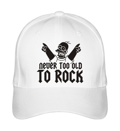 Бейсболка Never too old to Rock
