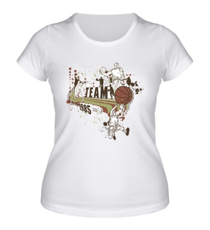 Женская футболка Basketball Team 1985