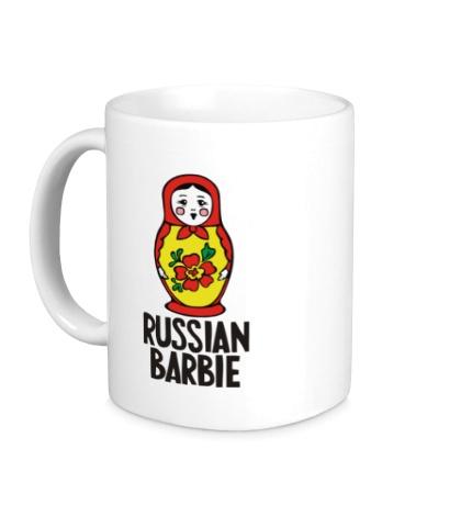 Керамическая кружка Russian Barbie