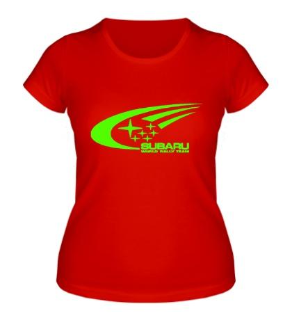 Женская футболка Subaru World Rally Glow