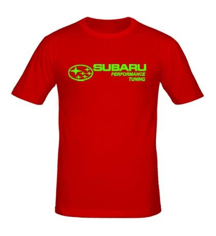 Мужская футболка Subaru Perfomance Tuning Glow