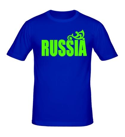 Мужская футболка Russia Glow