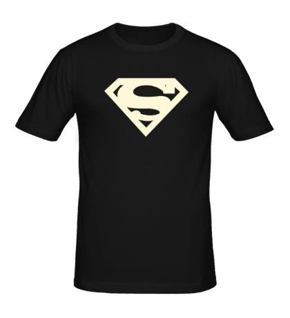 Мужская футболка Супермен, свет