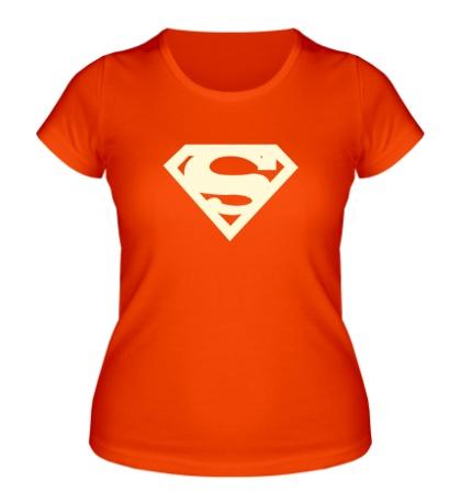 Женская футболка Супермен, свет