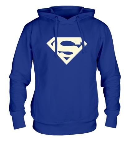 Толстовка с капюшоном Супермен, свет