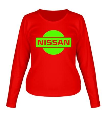 Женский лонгслив Nissan Logo Glow