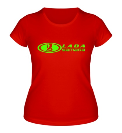Женская футболка Lada Samara Glow