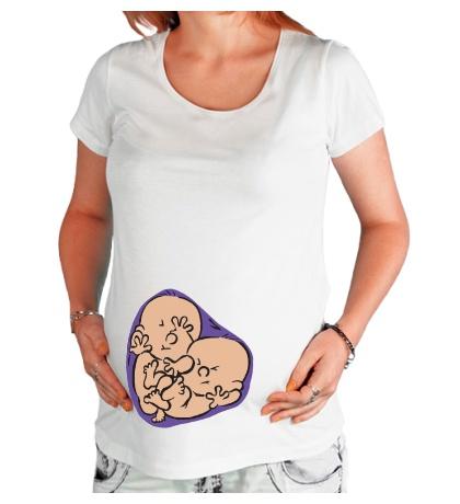 Футболка для беременной Маленькие близнецы