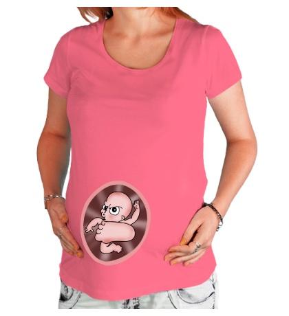 Футболка для беременной Малыш-каратист