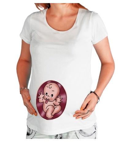Футболка для беременной Малыш-дразнилка