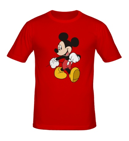 Мужская футболка Идущий Микки Маус