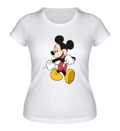 Женская футболка Идущий Микки Маус