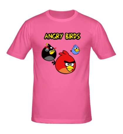 Мужская футболка Angry Birds Wars