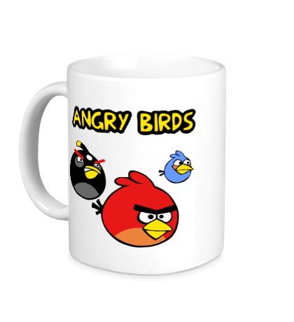 Керамическая кружка Angry Birds Wars