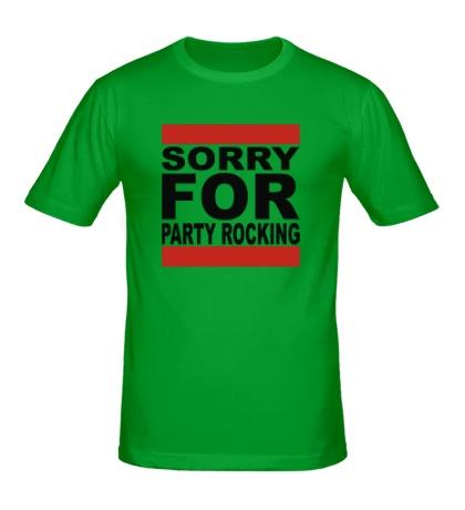 Мужская футболка Sorry for party rocking