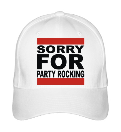 Бейсболка Sorry for party rocking