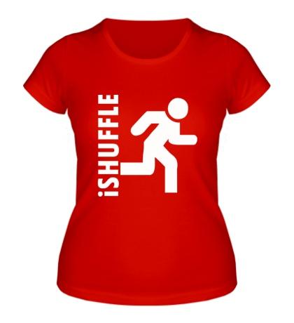 Женская футболка IShuffle