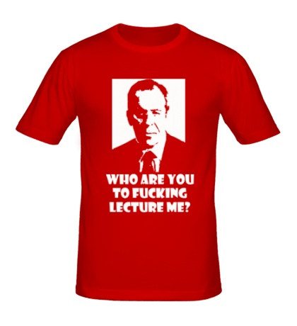 Мужская футболка Lavrov: who are you?