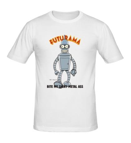 Мужская футболка Bite my shiny metal ass