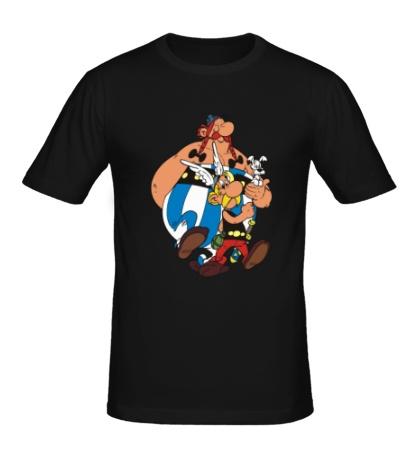 Мужская футболка Астерикс и Обеликс