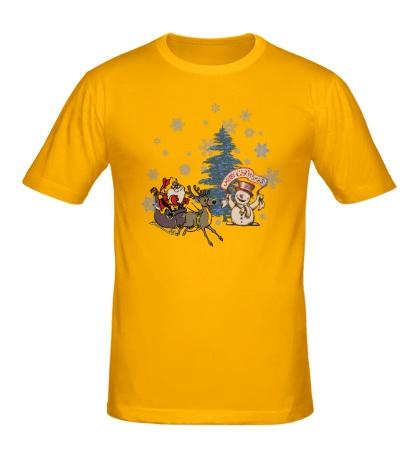 Мужская футболка Merry Christmas